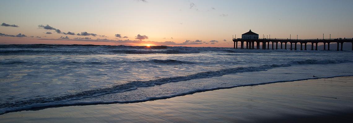 Beautiful Sunset with Manhattan Beach Pier